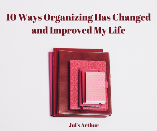 Organizing has changed and improved my life. Planners and Notebooks in organized stack