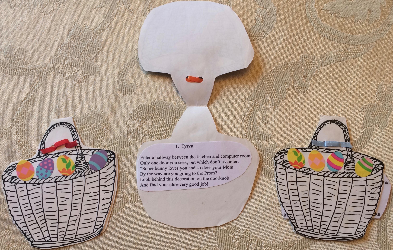 Declutter Your Easter Decorations Easter Basket Hunt Clues