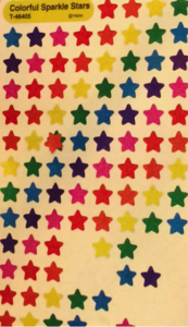 Paper Towel Hack Star Stickers