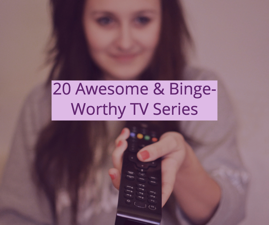 20 Awesome TV Series. Image of woman aiming TV remote